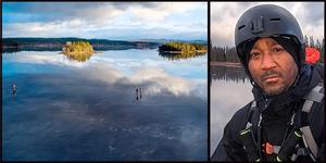 Sebastian Hansen fångade långfärdsskridskopremiären med sin drönare i lördags. Bild: Sebastian Hansen