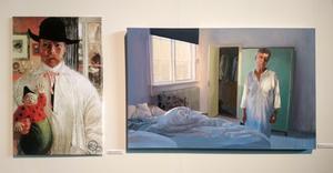 Självporträtt, Carl Larsson och Tidig morgon, Karin Broos.