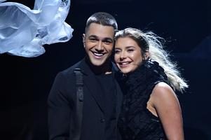 Liamoo och Hanna Ferm framförde bidraget och tog sig direkt till final.