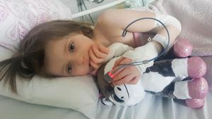 Tiden på sjukhus var tung för både Mollie och hela familjen.