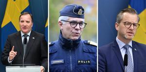 Stefan Löfven, Anders Thornberg och Mikael Damberg.