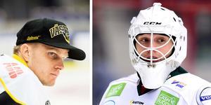 Foto: Bildbyrån/montage. Tranås målvaktstränare Jonas Fransson till vänster. Fredrik Bergvik till höger.