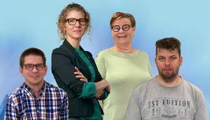 Från vänster: Liberalerna Anders Karlsson, Johanna Reimfelt, Pia Delin och Dennis Ljunge.