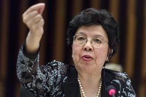 Margaret Chan var generalsekreterare i Världshälsoorganisationen WHO 2007–2017. Foto: Martial Trezzini/TT