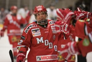 Landslagsbacken Mina Waxin var en Modos bästa spelare i förlustmatchen mot Djurgården.