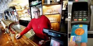 Therese Lundberg från Borlänge har jobbar på krogen i 18 år. Hon har sett hur dricks-mentaliteten ändrats genom åren, från kontanter till digitalt.