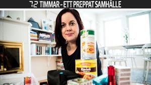 Elin Holmberg i Domsjö – en av länets preppers, människor som förberett sig för ett krisläge.