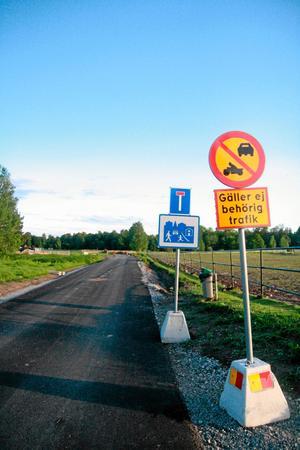 Här på Diedens allé stängs vägen av för allt typ av biltrafik framöver.