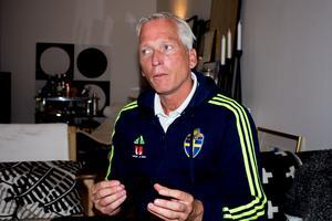 Håkan Sjöstrand, generalsekreterare för Svenska Fotbollförbundet, i sin villa i Västerås.