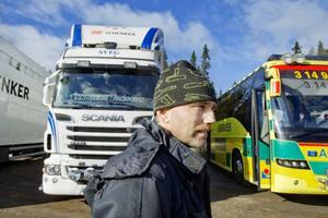 Tord Gustafsson, lärare på transport, gläds åt att Åkerinäringens dag blivit av för första gången.