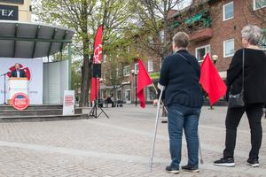 Socialdemokratisk manifestation i Fagersta på första maj 2019.