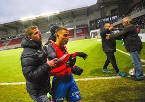 Jordan Larsson fick supportrarna i Helsingborg mot sig och lämnade klubben.Foto: Emil Langvad / TT