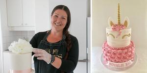 Veronica Aster är tårtmakare. Vad som började som en hobby är nu hennes jobb. Foto: Amanda Zälle/Veronica Aster