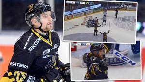 Jens Jakobs är Hockeyallsvenskans meste poänggörare någonsin. Foto: Tom Wande (Bildbyrån)/Skärmdump C More.