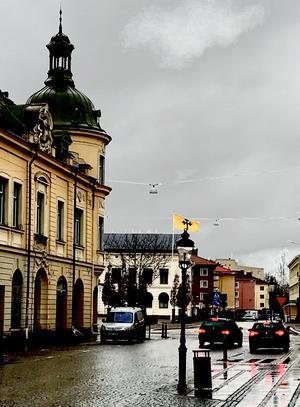 Köpings vintervy i år. Snöfattig men ändå tjusig och vacker, tycker Mauricio Lisegran.