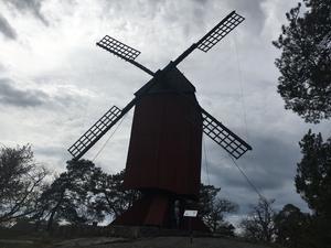 Väderkvarnen i Furusund byggdes 1722.