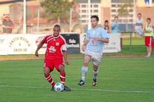 Jakob Eklund gjorde två mål hemma mot Gideonsberg 2009.