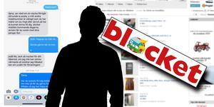 En ung Borlängebo misstänks ha lurat till sig pengar genom att lägga ut falska annonser på Blocket.  Bilden är ett montage.