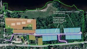 Det nya villaområdet på Ankarsvik på Alnö får 14 villor och fyra flerfamiljshus. Bild: Sundsvalls kommun