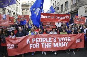 Hoppet som Labour tände och som nu har släckts. Foto:  AP.