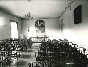Kyrksalen på Carlslund 1932. Foto: Ernst Blom/VLM