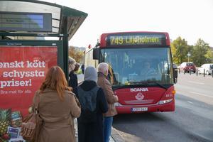 Busslinjerna 748 och 749 stannar inte vid hållplats Polhemsgatan på grund av vägarbeten.