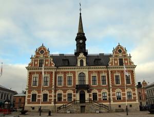 Rådhuset i Söderhamn vann omröstningen om Hälsinglands vackraste hus och fick 1028 röster.