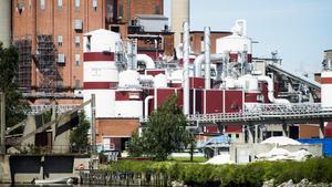 Brand på Domsjöfabriken-