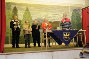 Vinnarlaget från Färila: Ing-Marie Berbres, Aagot Mann, Anita Marcusson och Ingvar Pettersson.