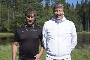 Lagledaren Anders Wiig och Niclas Krook, junior– och senioransvarig.