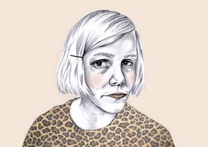 Självporträtt, Linnéa Olsson.