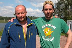 Vänner. Stefan Reijer från Mockfjärd, är Ola Rapace tränare och vän. Foto:Lovisa Svenn