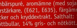 Smakförstärkare. Syntetiskt framställd glutamat förekommer bland annat i färdigrätter, chips, soppor och såser. Glutamat (mononatriumglutamat) har beteckningen E621.