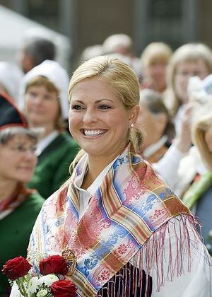 Prinsessan vid nationaldagfirandet.