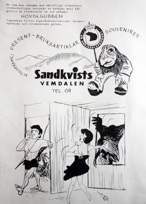Reklam från Sandqvists hemslöjd.