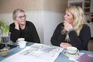 Anette Jonsson Sundell och Eva Perpåls har många idéer för den nya handelsträdgården, bland annat vill de ha en second hand-hörna där kunderna ska kunna byta växter med varandra.