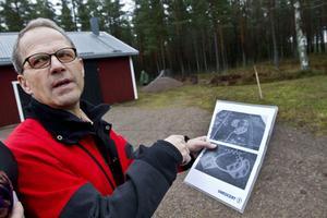 Anders Mellin tänker anlägga ettvillaområde med lågenergihus i sin skog.