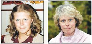Till vänster: Annika Lindahl var 21 år gammal och älskade att gå ut och dansa. Annika i dag.