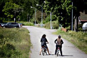 Hifaa Hsen ville inte testa cykeln när de andra asylsökande kunde se.