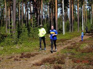 Seppo och Gun Valli var två av deltagarna i Högforsloppet.  Foto: PA Persson