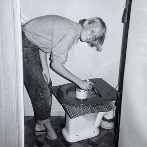 Kerstin Edbäck, idag Rapp, i målartagen 1967.