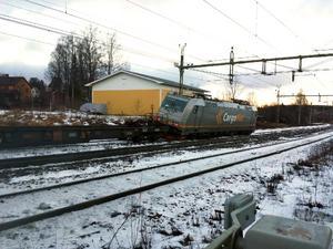 En tågurspårning har inträffat i Trehörningsjö.