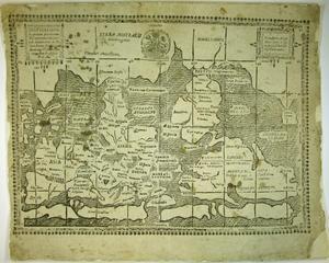 På Rudbeckius egendomliga världskarta är Australien i norr och Sverige i söder.