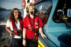 Gabriela Brink och Ullrica Alderback är räddningsmän inom Sjöräddningssällskapet i Gävle.