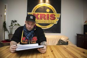 Tre månader efter olyckan var Martin tillbaka på jobbet på KRIS,