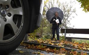 Trafikplaneraren Björn Abelsson berättar att prio ett i åtgärdsprogrammet är att minska användningen av dubbdäck.