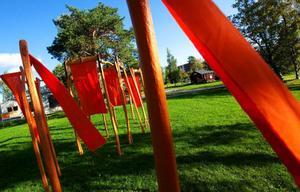 """I """"Jamtli Gates"""" har gamla avlagda hästskaklar kommit till användning.  Foto: Håkan Luthman"""