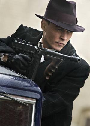 """Johnny Depp som gangstern John Dillinger i Michael Manns """"Public Enemies""""."""