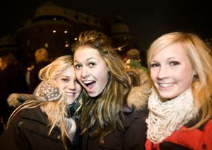 Sara Jernfält, Elisabeth Kleveback och Rebecca Andersson.