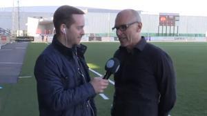 Fredheim intervjuades i Sportens livestudio efter 2–0-segern mot Syrianska.